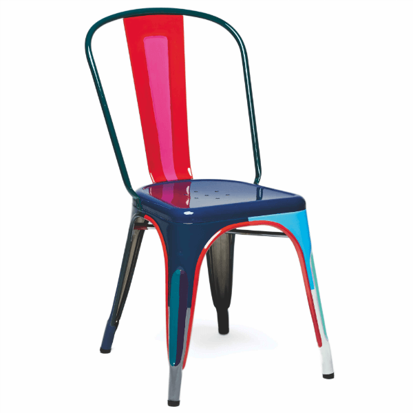 Chaise a t le mod le depuis 80 ans for Chaise tole